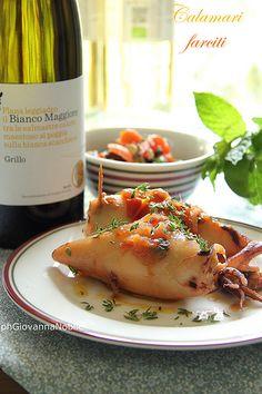 Calamari Farciti con Melanzane - La Cuoca Eclettica