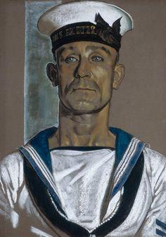 Stoker Martin of HMS 'Exeter', by Eric H. Kennington