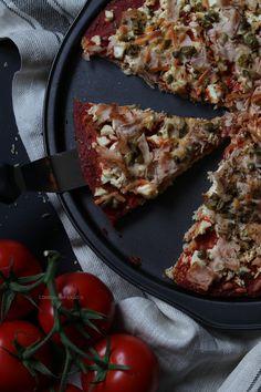 Pizza com Massa de Couve-Flor...