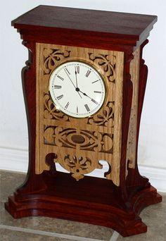 Coventry clock, scroll saw fretwork pattern