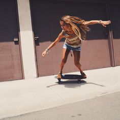 impressive hair... improved by #Skateboarding, obvs...