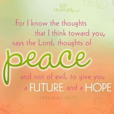 God is the god of peace,hope and a future