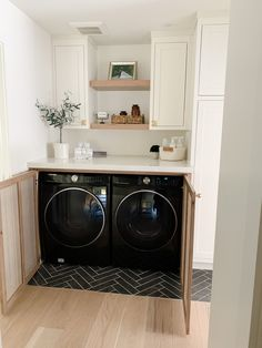 A Hidden Hallway Laundry Nook – G A T H E R H O U S E . Hidden Laundry Rooms, Laundry In Kitchen, Small Laundry Closet, Laundry Room Doors, Laundry Dryer, Laundry Room Cabinets, Small Closets, Laundry Room Design, Washer Dryer Closet