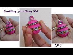 Quilling miniature jewellery pot in 3D diy - YouTube