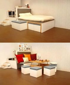 Modular furniture = perfect for bachelors apartments
