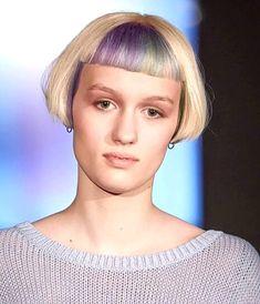 Image may contain: 1 person, closeup Bob Haircut With Bangs, Short Bangs, Short Hair Cuts, Short Hair Styles, Unique Hairstyles, Bob Hairstyles, Bowl Haircuts, Really Short Hair, Louise Brooks