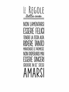 Wallsticker Regole della casa Nero 30 x 90 cm Casa Hipster, Family Rules, More Than Words, Home Living, E Design, Sentences, Sweet Home, Mindfulness, Inspirational Quotes