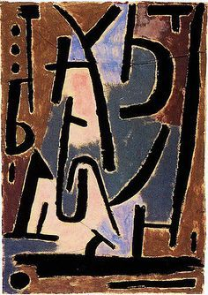 Paul Klee 'Signes Menaqants'(Bedrohliche Zeichen) 1938 (Ominous Sign) Painting glue and graphite pencil on wrapping paper mounted on cardboard x 35 cm Acrylic Painting Lessons, Oil Painting Abstract, Abstract Art, Sign Painting, Watercolor Artists, Art Dégénéré, Tjalf Sparnaay, Paul Klee Art, Georges Pompidou