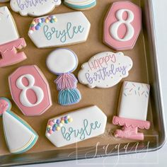 """Leah Malvarose on Instagram: """"Happy birthday to Brylee🖤 100% inspiration from @themillerswifecustomcookies for this set with some cutters from @thecookiery.ca • • •…"""""""