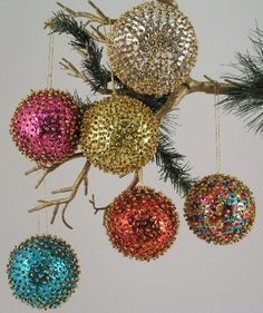 Handmade fair trade Christmas ornaments.... I've made a few of these before.  They're beautiful and not that difficult, but very very time consuming!!
