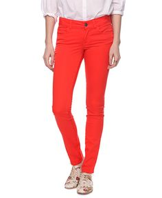 Bright jeans - a staple for this year
