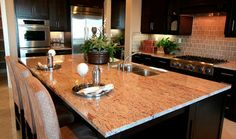 Raja Pink Granite Countertops - traditional - kitchen - orange county - M S International, Inc.
