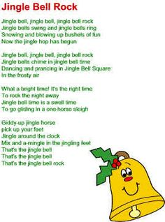 Jingle Bell Rock Lyrics | Christmas songs lyrics, Jingle bells and ...