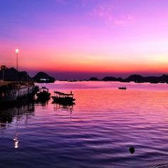 Sunset on Cat Ba Island at Sea Pearl Hotel in Hai Phong, Vietnam