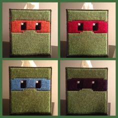 Teenage Mutant Ninja Turtles Tissue Box Cover by K8BitHero on Etsy, $25.00