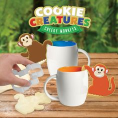 Cheeky Monkey Cookie Cutters. Make your own cookie creatures!