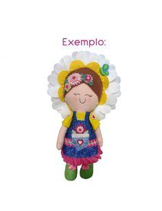 Molde Durável Alecria - Vanessa Iaquinto - Boneca em Feltro Lili Coleção Primavera.