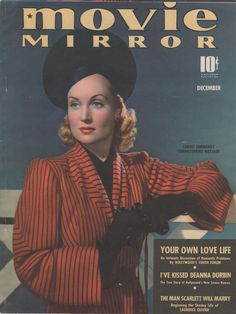 Carole Lombard on the December 1939 issue of Movie Mirror.