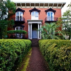 Mercer House in Savannah | Midnight in the Garden of Good & Evil . I have to watch the movie every now and then just to see this house at night, with the party going on. Love Love Love