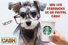 If you love STARBUCKS, don't miss this great giveaway! Miss Molly Says and I am happy to share this fun giveaway with you! Of course, if you don't like coffee, you can always pick the $20 PayPal cash option! ENTER TO WIN! One lucky reader will win a $20...