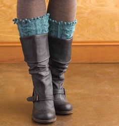 Ravelry: Cabled Boot Toppers pattern by Mags Kandis
