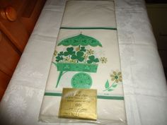 Vintage NOS NIP House of Paper Party Table Cover. Shamrock Motif. USA.