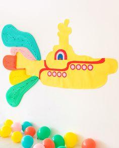 Giant Yellow Submarine Backdrop   Oh Happy Day!