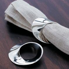 Mobius Silver Napkin Ring