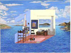 Salvador Dali's studio, Cadaques, 1973 by Damian Elwes