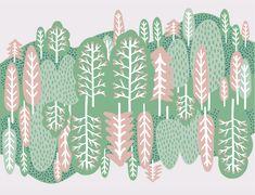 【Forest】#illust #testile #design #森 #textile #イラスト #北欧デザイン #北欧イラスト #テキスタイル Scenery, Illustration, Prints, Pattern, Folk, Animals, Animales, Landscape, Popular