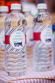 Chuggington Party Ideas | DIY Printable Water Bottle Labels Train Party by paigesofstyle, $7.00