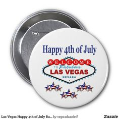 Las Vegas Happy 4th of July Button