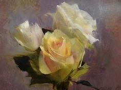 Yellow roses, by Kathleen Speranza Amazing Flowers, Beautiful Roses, Colorful Flowers, Oil Painting Flowers, Painting & Drawing, Flower Paintings, Pink Peonies, Yellow Roses, Still Life Flowers