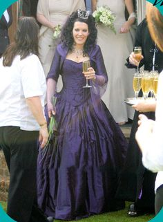 Purple Wedding Dresses | Goth theme wedding | Pinterest | Purple ...