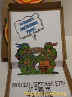 Invitación de cumpleaños hecha a mano de por HappyToons en Etsy