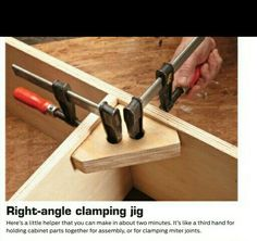 Right angle clamp, i think with bigger holes in the middle this would be useful
