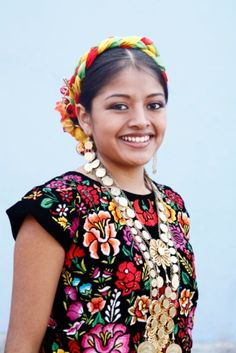 Mexican Girl in traditional regional costume...Oh SO Colorful..! So PrettyFul..!