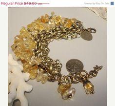 25 OFF SALE 25 Percent OFF Gold Dust Citrine bracelet by nina68, $36.75