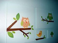 DIY owl wall art