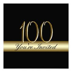 100th birthday party elegant photo invitations 100th birthday