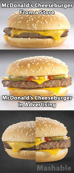 How McDonald's uses Photoshop and composition to present its food in advertising