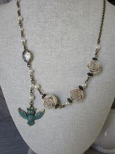 owl pendant necklace, owl necklace, jewelry keepsake, bird necklace, owl always love you, owl gift / owlsnroses