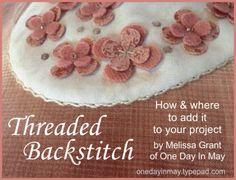 Threaded Backstitch