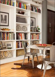 floor to ceiling shelving!