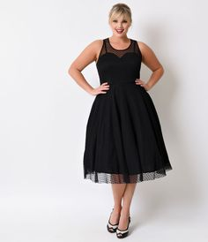 ca2aaebacda A gorgeous plus size swing reminiscent of a sassy vintage prom dress