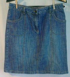 Liz Claiborne Knee Length Linen Water Color Floral Skirt 8p Petite M Clothing, Shoes & Accessories