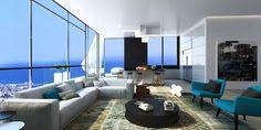 hi-rise condo w/expansive ocean view | #modern #interior #design... Ron Tha Writer style All Day !!!