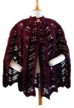 Lacy Ripple Cape Crochet Pattern