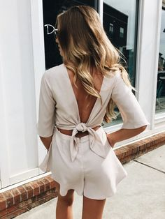 all we want in summer is a fresh outfit - backless shirt and high waist shorts | outfit inspiration