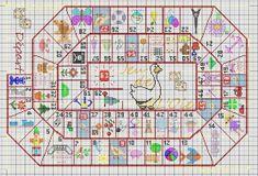 Certaines de vous veulent plus d'info concernant le Sal jeu de l'Oie que je vais proposer début mai. Un Sal c'est plusieurs personnes qui font une même broderie en même temps pour s'encourager à aller au bout de l'ouvrage et à montrer l'avancée aux autres,... Puzzle Pieces Games, Plastic Canvas, Game Design, Creations, Cross Stitch, Miniatures, Mai, Holiday Decor, Stickers
